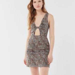 UO Sweet Tooth Linen Mini Dress